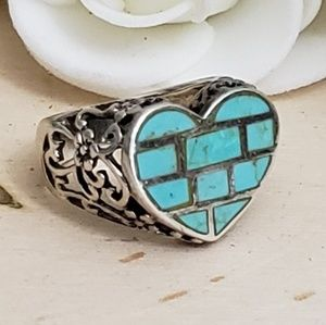 Jewelry - 925 Sterling Silver Vintage Turquoise Ring Size 6